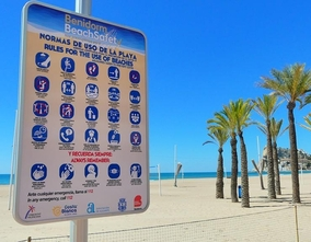 On Monday Benidorm will open its beaches with a Project which guarantees safety, use and access of all users,